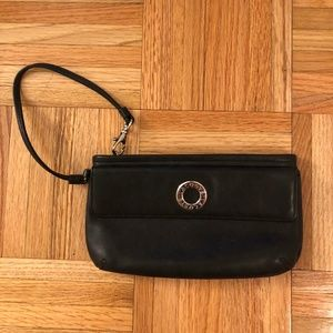 Lacoste Black Leather Clutch